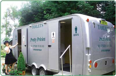 Our luxury portable toilets